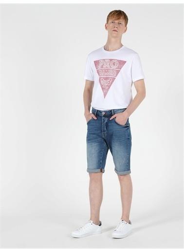 Colin's CL1049617_Q1.V1_DN40868 030 Nelson Orta Bel Orta Anti Fit Jean Erkek Jean şort Renkli